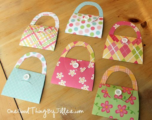 DIY purse notecards