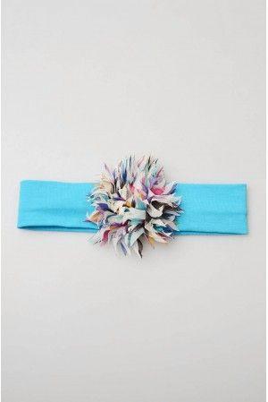 mavi kırpıklı bandana