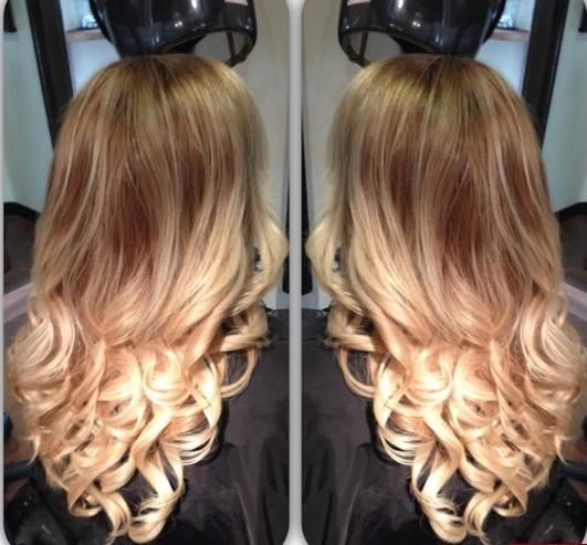 Love these colors but this ombré style makes girls look like they haven't done their hair in a year