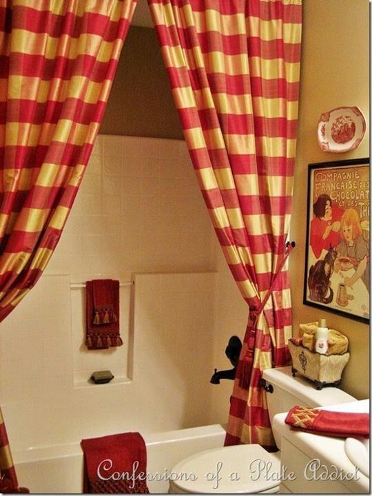 Cortinas De Baño Rayadas:French Country Shower Curtain