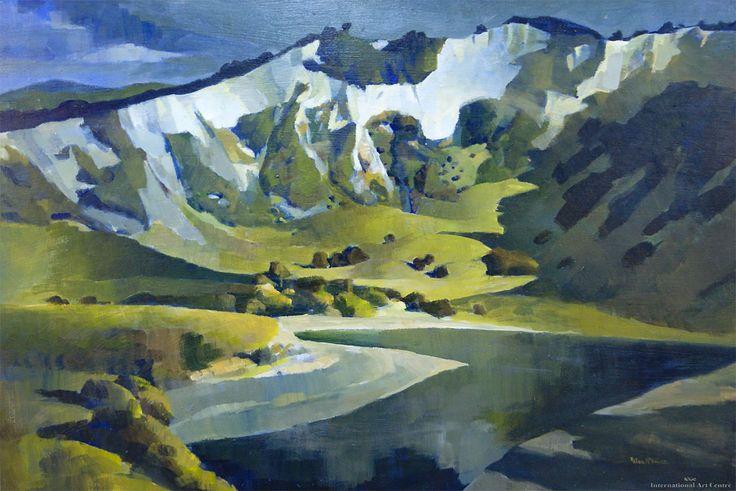 Peter McIntyre - The White Cliffs, Rangitikei
