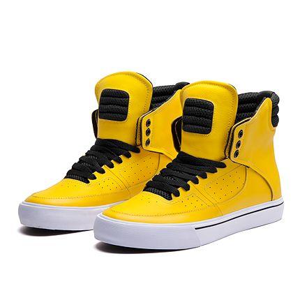 SUPRA KONDOR   YELLOW / BLACK-WHITE   Official SUPRA Footwear Site