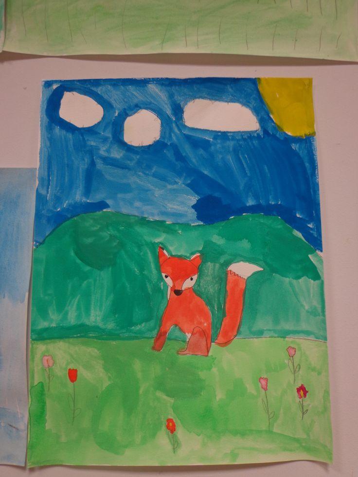 peinture de renard avec un pas à pas février 2016 CP