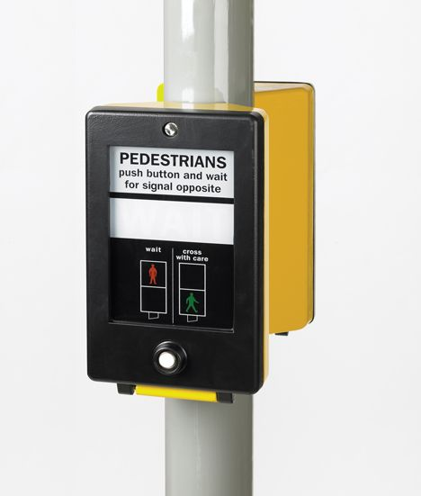 David Mellor's pedestrian crossing signal. Part of the redesign of the UK national traffic system in the 1960s.