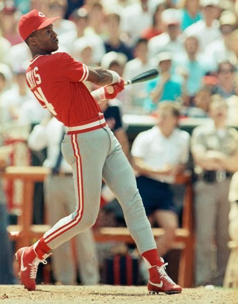 Cincinnati Reds outfielder Eric Davis. Note: There was no Home Run Derby in 1988 as the event was rained out. (Eric Risberg/AP)