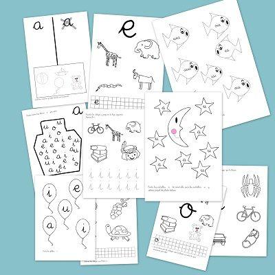 Fichas de lectoescritura para el aprendizaje de palabras, consonantes, vocales etc. Ideales para niños de preescolar e infantil. Descargas gratuitas.