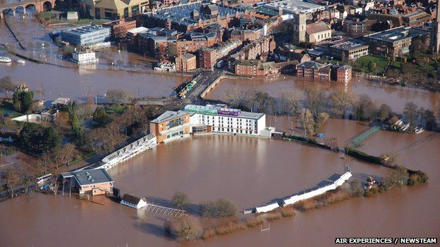 """Warming boosts UK flooding risk-January 2014 was the wettest since records began in 1767..."""