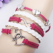 Double Heart Twisted Weave Armband – EUR € 1.90