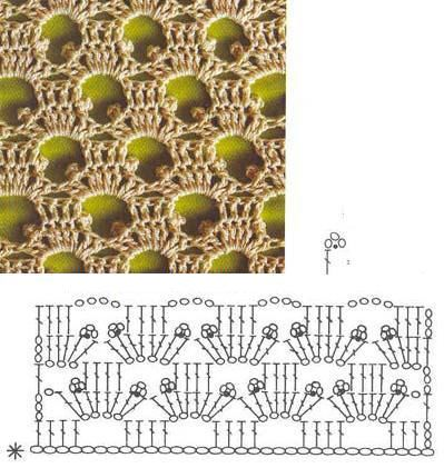 pretty charted  crochet pattern   #afs collection