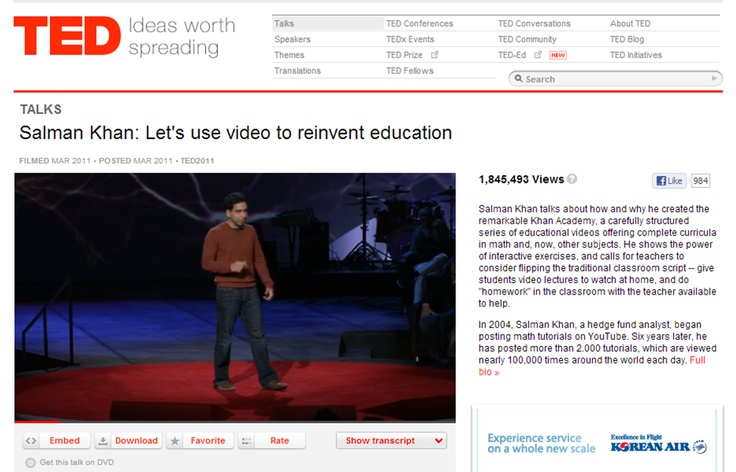 Salman #Khan: Let's use video to reinvent education #TED