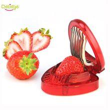 1 unid Rojo Fresa Slicer Herramientas de Tallado de Frutas De Plástico Ensalada Cortador Fresa Baya Decoración de La Torta Del Cortador(China (Mainland))