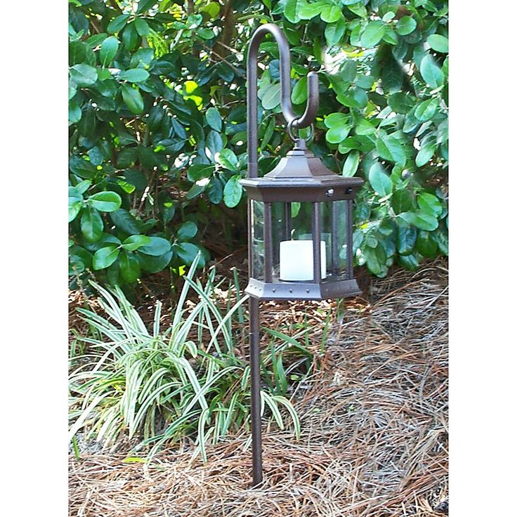Shepherds Hook Solar Lantern   Clear