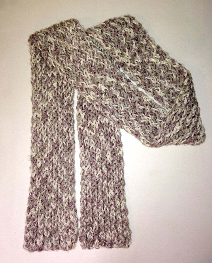 Loom knit scarf Lady Wilsons Creations Pinterest Loom, Loom knit a...