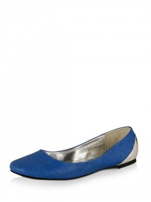 AKA PATRICK COX for KOOVS Metallic Back Ballerina Flats from koovs.com