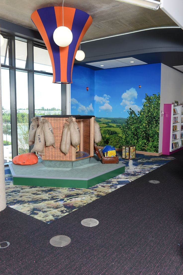 Hot air balloon children's feature for play and discovery