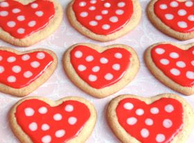 Minnie's Polka-Dot Cookies: Valentine Cookies, Disney Junior, Polka Dots Cookies, Valentine Day, Polkadot Cookies, Heart Cookies, Minnie Mouse, Cookies Recipe, Disney Inspiration