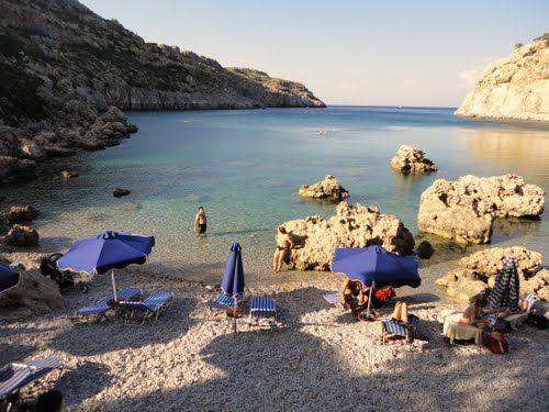 Anthony Quinn beach, Rhodes Greece