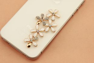 5 conjoined flowers white gold center piece diy bling phone deco etc | chriszcoolstuff - Craft Supplies on ArtFire http://www.artfire.com/ext/shop/product_view/6274785