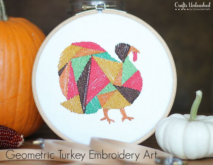 Not so interested in the turkey, but the geometric part is good inspiration.   Geometric Embroidery Turkey Art Tutorial