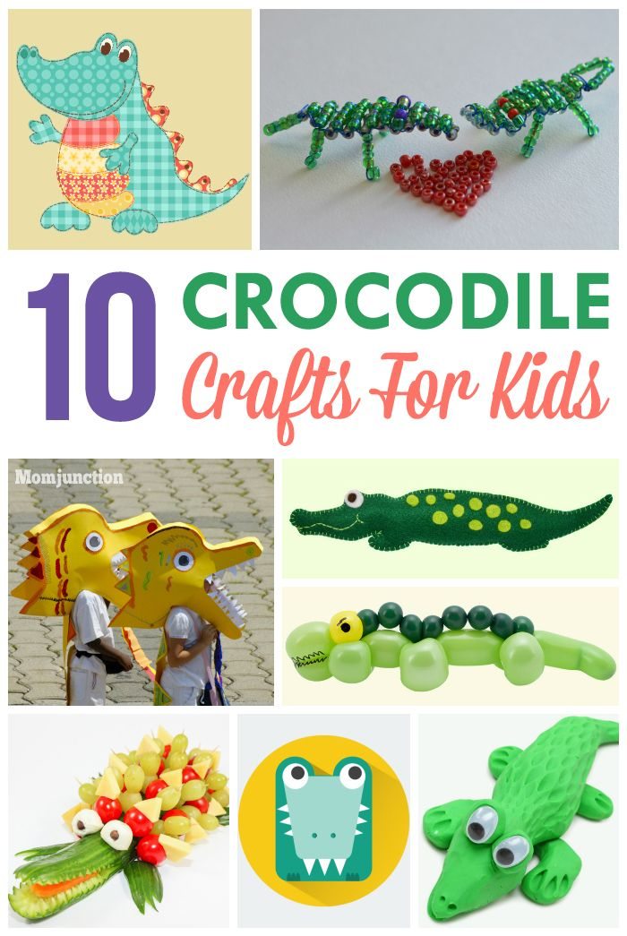 10 Fun & Interesting Crocodile Crafts For Kids: list of ten quick and snappy crocodile crafts for kids below. Do check them out.