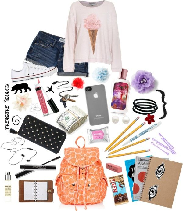 """""""What to keep in your backpack"""" by sillybandz3 ❤ liked on Polyvore"""