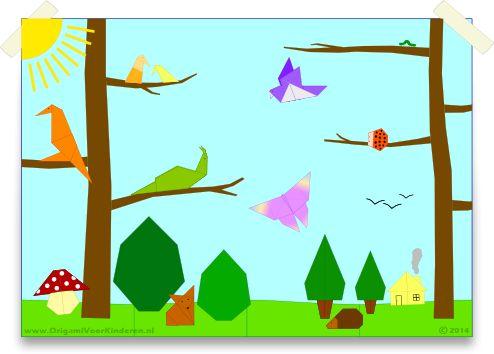 Project 3: Het Bos - Origami Voor Kinderen