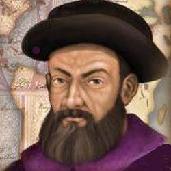 Fernão de Magalhães (1480 -1521) foi um navegador Português e serviu o Rei Carlos I de Espanha.  A expedição de Magalhães em 1519–1522 tornou-se a 1.ª a navegar do Oceano Atlântico para o Oceano Pacifico (Nome dado por Magalhães) . Liderou a 1.ª viagem de circunavegação da Terra, embora não a tenha completado.