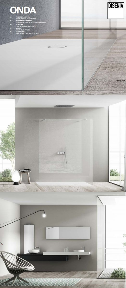 Onda is the new range of #shower trays in Aquatek by #Disenia. See the online catalogue! #Ideagroup