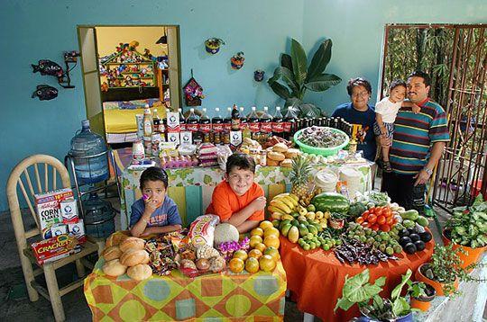 Ce qu'ils mangent en une semaine : Mexique: La famille Casales de Cuernavaca
