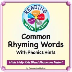 Rhyming Word Lists With Various Spellings (Bear-Care-Chair)! Enter for your chance to win 1 of 10. Reading With Color: Common Rhyming Words With Phonics Hints  (39 pages) from Reading With Color on TeachersNotebook.com (Ends on on 03-31-2017) Get over 200 lists of rhyming words organized by vowel sounds, word length, and ending consonants. Take a look! .