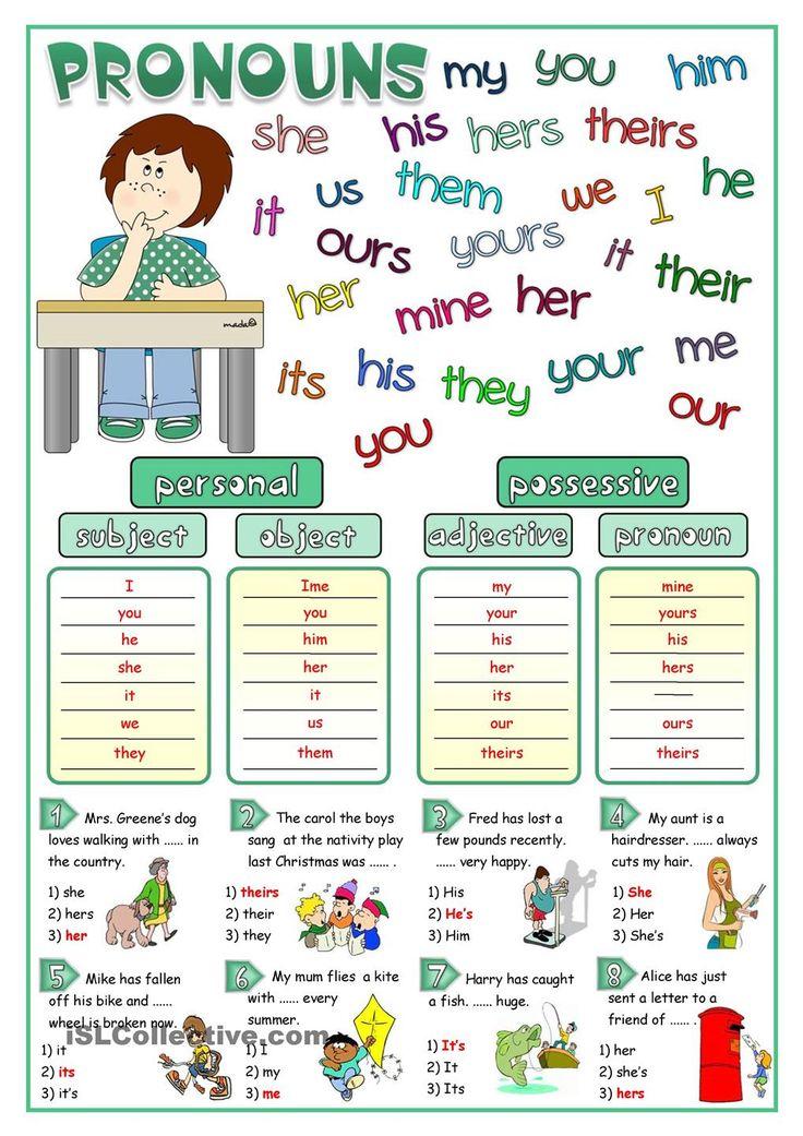 Pronouns - matching