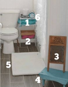6 accessory pieces necessary for french farmhouse kids/guest bathroom