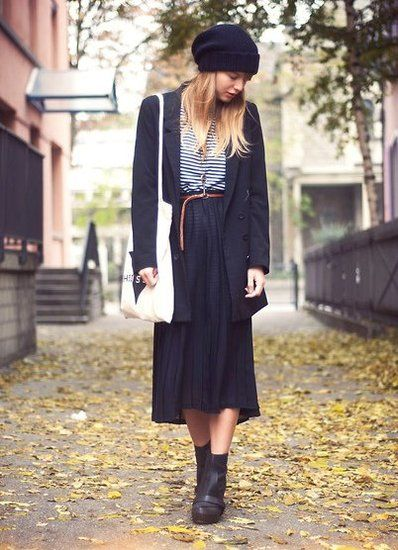 .Style, Clothing, Closets, Outfit, Black Pleated Skirts Maxis, Fashion Blog, Wear, F Fall Winter, Maxis Skirts