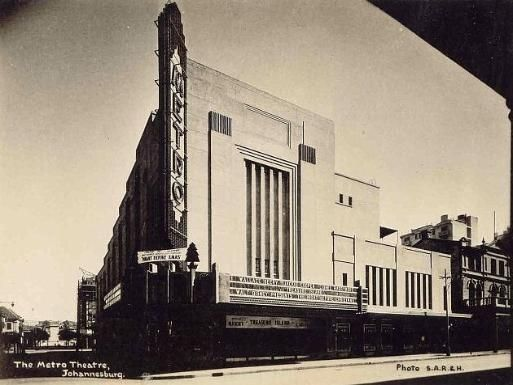 Metro cinema, Johannesburg. The Metro Theatre was situated at the corner of  Bree  and Von Brandis Streets, Johannesburg and was opened by Metro-Goldwyn-Mayer on 4th November 1932. It would become the largest four-wall cinema in South Africa with a seating capacity of 2800. Photo above was taken in 1934 during the run of 'Treasure Island' starring Wallace Beery and Jackie Cooper.