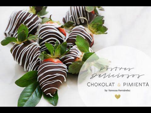 Cómo hacer Fresas cubiertas con Chocolate - YouTube