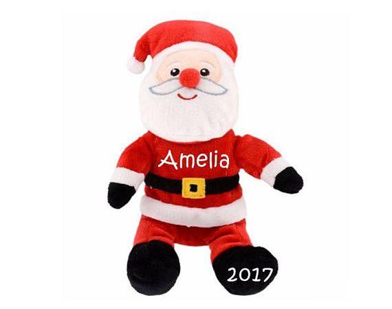 Stocking Stuffers for Kids, Personalized Stuffed Santa, My First Christmas, My 1st Christmas, Stuffed Santa Claus, Personalized Santa Plush #stockingstuffer #holidayshopping #santaclaus #personalizedgift