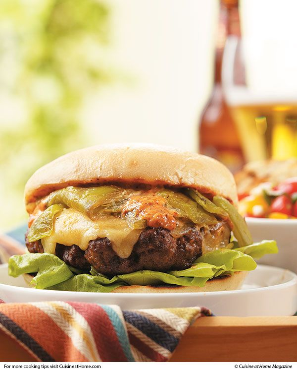 Green Chile Cheeseburger | Cuisine at home eRecipes