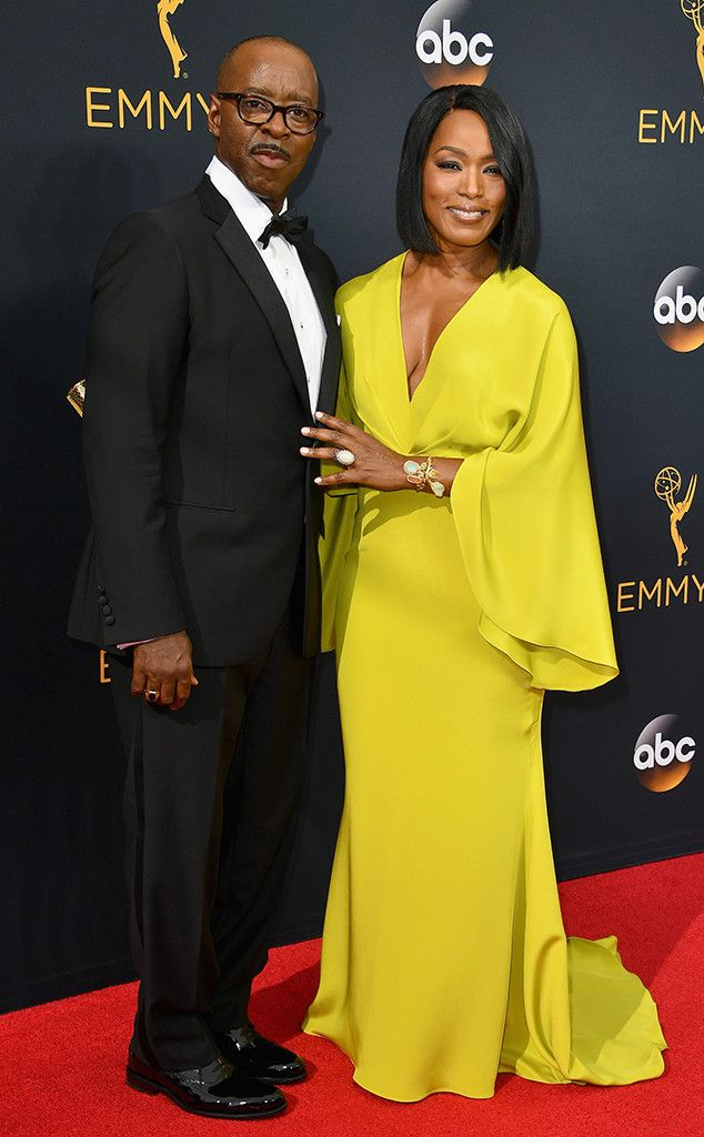 Courtney B. Vance, Angela Bassett, 2016 Emmy Awards- Le Vian opal ring