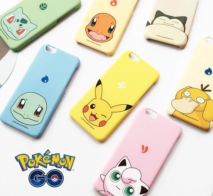 Cute Pokemons Go Pikachu Bulbasaur Charmander Squirtle Jigglypuff Snorlax Psyduck Hard PC Case Cover For iPhone 5 5S 6 6S Plus