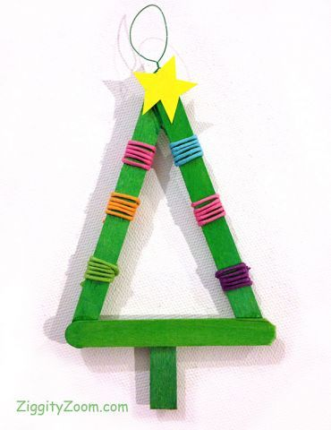 Tree ornament craft for toddlers and preschoolers