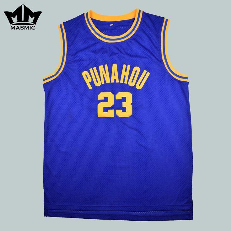 MM MASMIG Barack Obama 23 Punahou Hoge Basketbal Jersey Herdenkingsmunt Editie Blauw