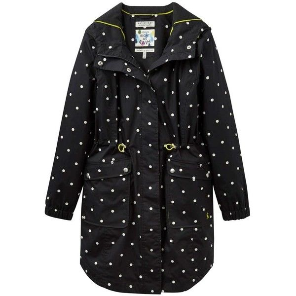Women's Joules Raina Waterproof Parka (€130) ❤ liked on Polyvore featuring outerwear, coats, parka coats, hooded raincoat, hooded coat, waterproof parka and hooded rain coat