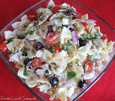 For the Love of Cooking » Mediterranean Chicken Pasta Salad