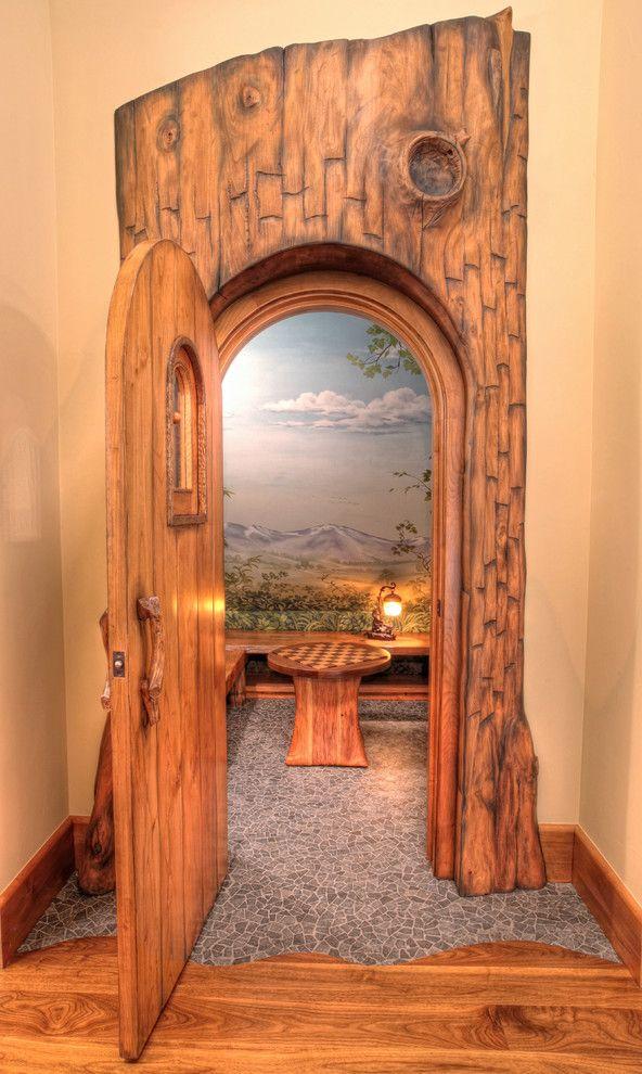 Dazzling hall tree storage bench in Kids Rustic with Hobbit Door next to Hobbit House alongside Secret Rooms and Broom Closet