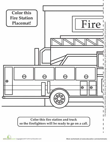 fire truck activity placemat activities trucks and fire trucks. Black Bedroom Furniture Sets. Home Design Ideas