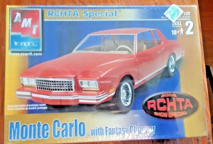 1980 Chevy Monte Carlo with Fantasy chopper RCHTA Special FS AMT 1/25 scale   #AMT