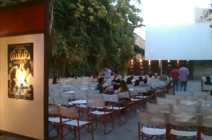 Open air cinema near the O and B Athens Boutique Hotel!!!  enjoy great movies and the unique Greek Summer :)