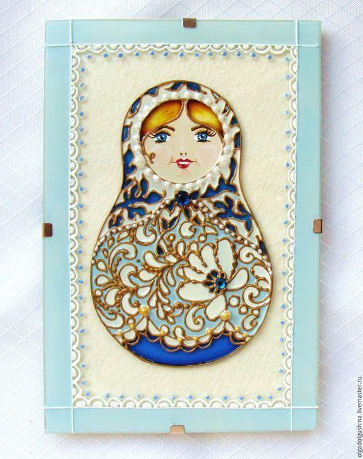 Открытки для женщин, ручной работы. Ярмарка Мастеров - ручная работа. Купить Матрёшки- открытки. Handmade. Комбинированный, открытка