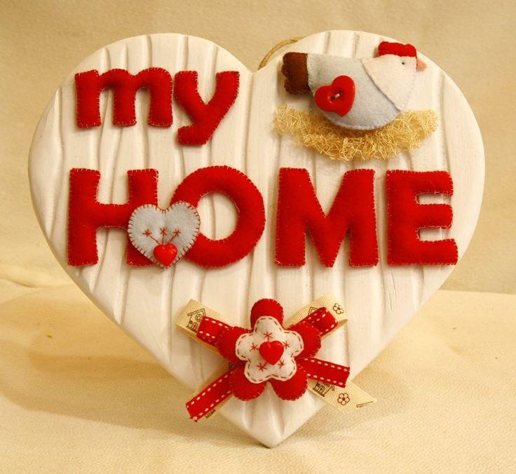 My home.. cuore in legno