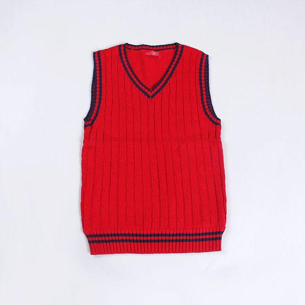 外贸童装男童中小童儿童休闲背心 秋冬款针织毛衣儿童V领上衣保暖